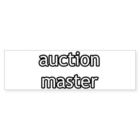 Auction Master Product Line Bumper Sticker