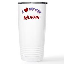 I Love My Cat Muffin Travel Mug