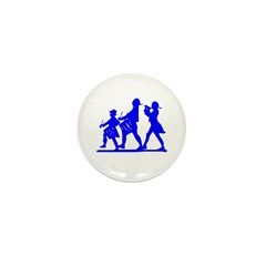 Blue Patriotic Marching Band Mini Button (10 pack)