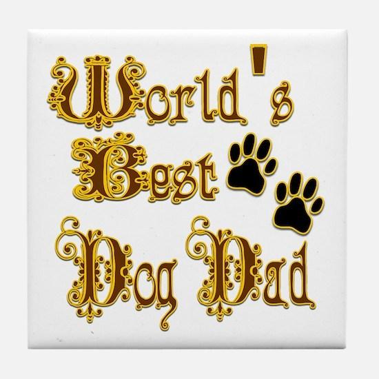 Best Dog Dad Tile Coaster