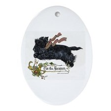 Scottish Terrier Season Ornament (Oval)