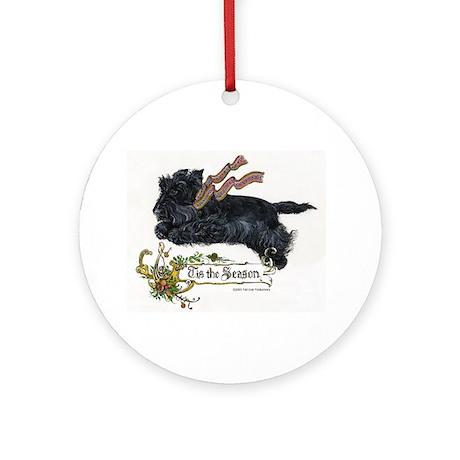 Scottish Terrier Season Ornament (Round)