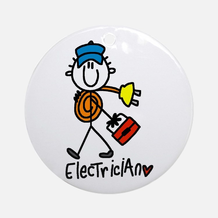 Basic Electrician Ornament (Round)