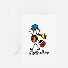 Basic Electrician Greeting Card