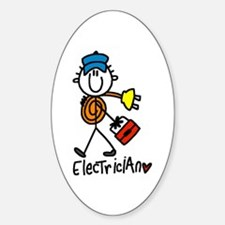 Basic Electrician Oval Decal