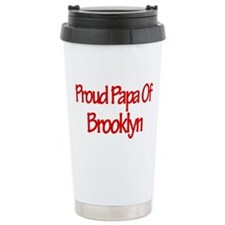 Proud Papa of Brooklyn Travel Mug