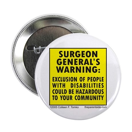"""Exclusion Warning 2.25"""" Button (100 pack)"""