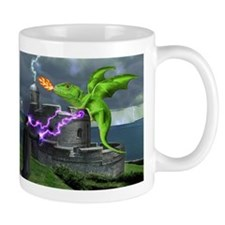 Funny Dragon castle Mug