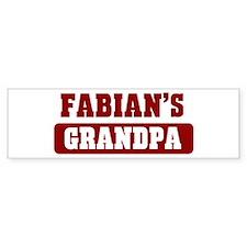 Fabians Grandpa Bumper Bumper Bumper Sticker