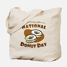 June: National Donut Day Tote Bag