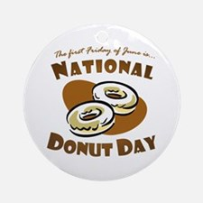 June: National Donut Day Ornament (Round)