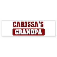Carissas Grandpa Bumper Bumper Sticker