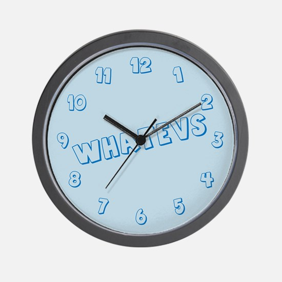 Whatevs Wall Clock