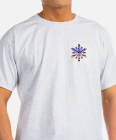 USA Snowflake Ash Grey T-Shirt