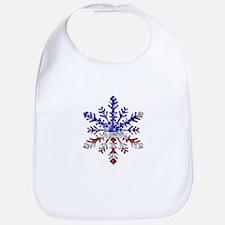 USA Snowflake Bib