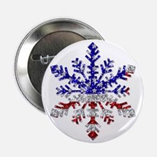 """USA Snowflake 2.25"""" Button (10 pack)"""
