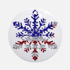 USA Snowflake Ornament (Round)