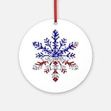 USA Snowflake Ornament (Round)