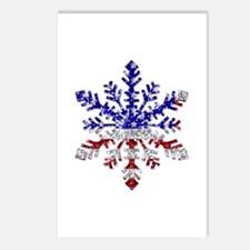 USA Snowflake Postcards (Package of 8)