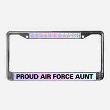 Proud Air Force Aunt License Plate Frame