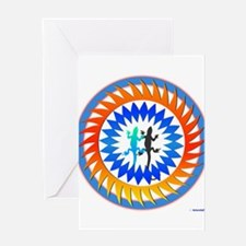 Tribal Sun Lizard Greeting Card