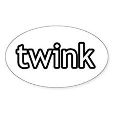 Twink Product Line Oval Decal