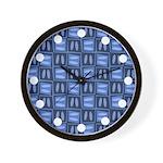 Martini Blues Wall Clock