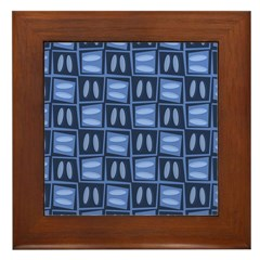 Martini Blues Framed Tile