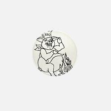 Swine BBQ Mini Button