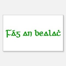 Fág An Bealach Rectangle Decal