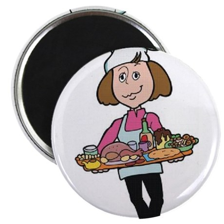 Female Chef Magnet