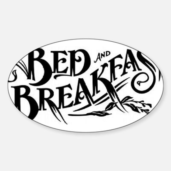 Bed & Breakfast Oval Decal