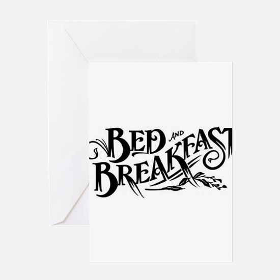 Bed & Breakfast Greeting Card