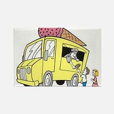 Ice Cream Truck Rectangle Magnet