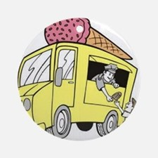 Ice Cream Truck Ornament (Round)