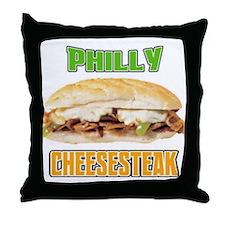 Philly CheeseSteak Throw Pillow