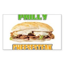 Philly CheeseSteak Rectangle Decal