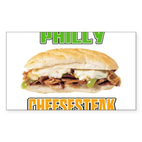 Philly CheeseSteak Rectangle Sticker