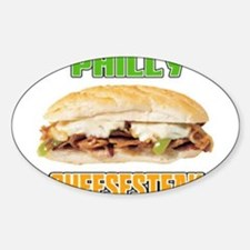 Philly CheeseSteak Oval Decal