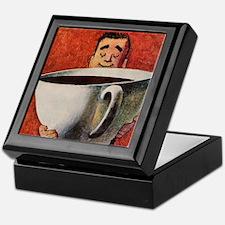 Vintage Coffee Keepsake Box