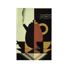 Vintage Coffee Rectangle Magnet (100 pack)