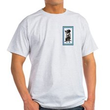 large munsterlander with bird Ash Grey T-Shirt