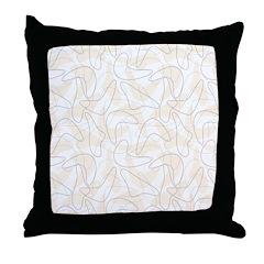 Boomerang peach Throw Pillow