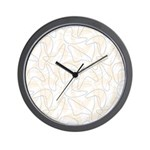 Boomerang peach Wall Clock