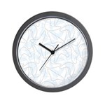 Boomerang Lt Blue Wall Clock