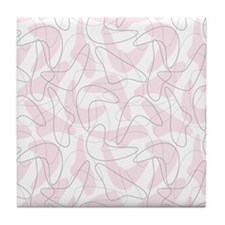 Boomerang Pink Tile Coaster