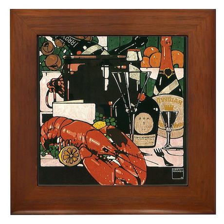Vintage Fancy Foods Framed Tile