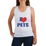 I Love Pets Women's Tank Top