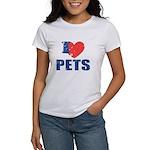 I Love Pets Women's T-Shirt