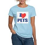 I Love Pets Women's Light T-Shirt